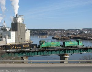 NB Southern at Reversing Falls in Saint John
