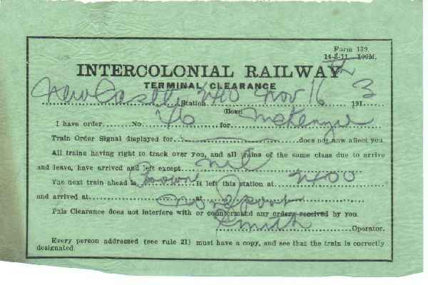 Intercolonial Railway Terminal Clearance 1913