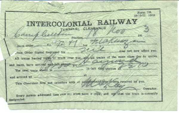 Intercolonial Railway Terminal Clearance