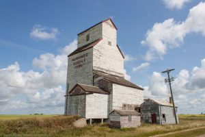 The grain elevator at Hathaway on the former CP Boissevain subdivision