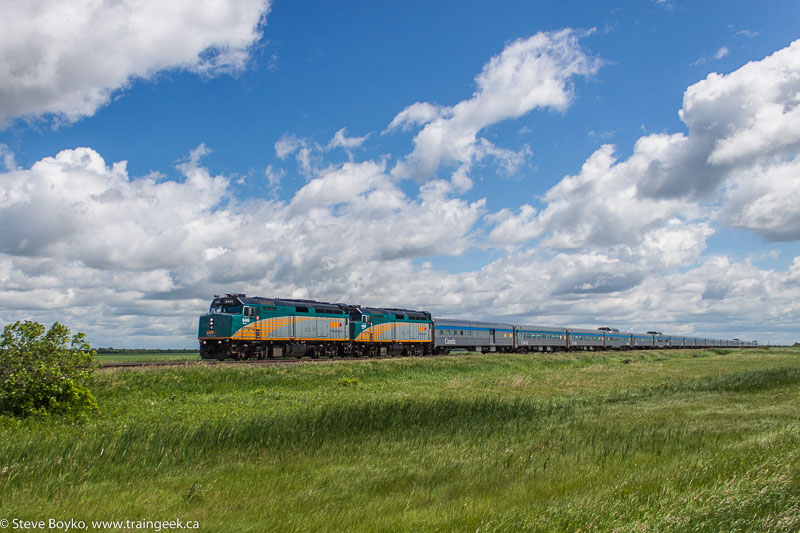 VIA Rail's Canadian leaving Winnipeg