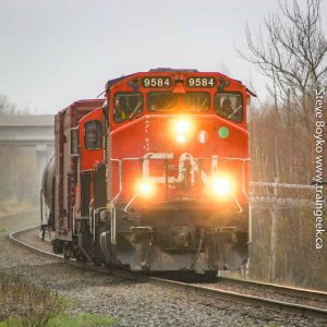 CN 9584 at Painsec Junction outside Moncton, New Brunswick