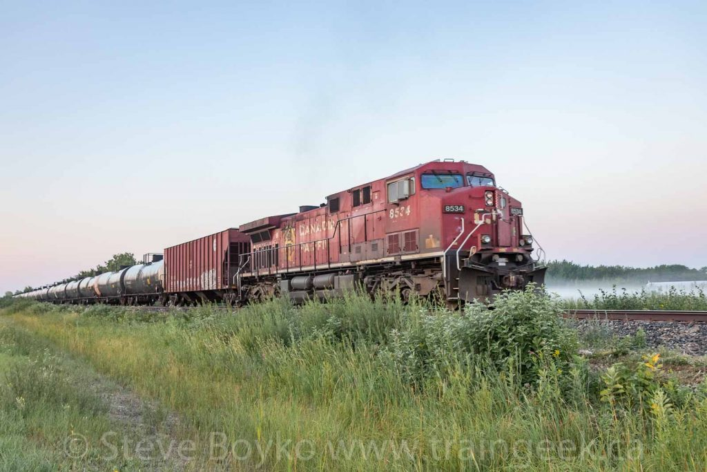 CP 8534 on the rear of the oil train