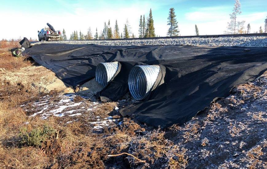 New culverts and roadbed installed