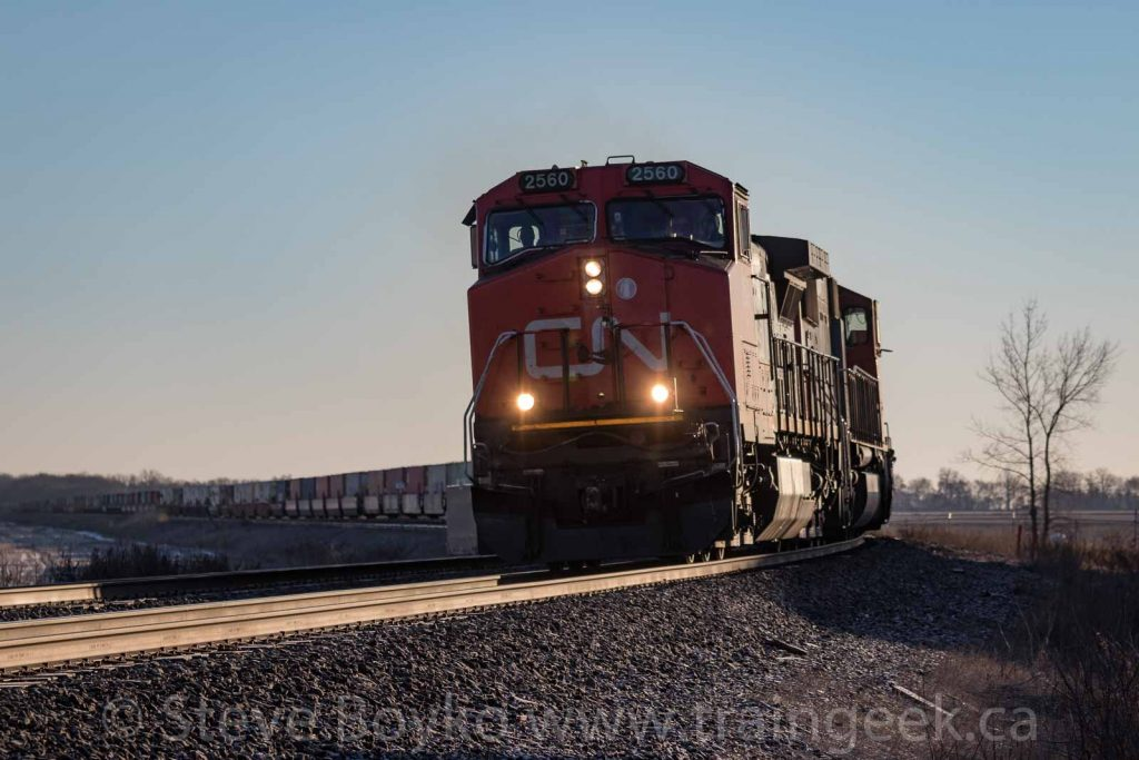 CN 2560 on the curve