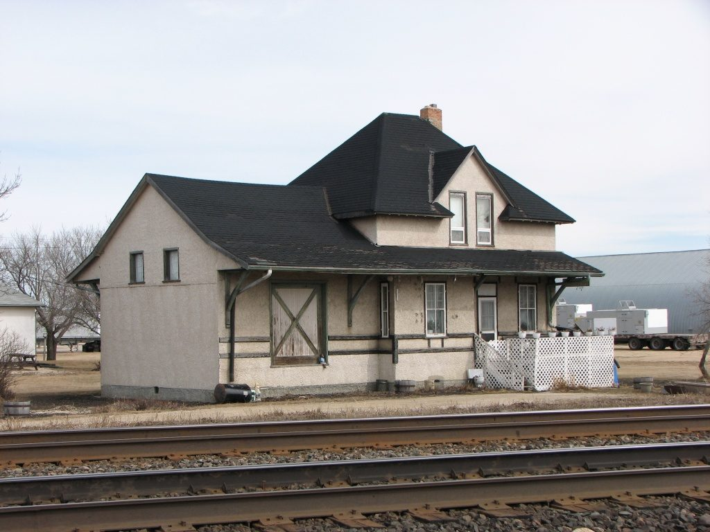 Elie, MB train station, April 2010.
