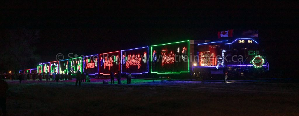 The CP Holiday Train in Whitemouth, MB.