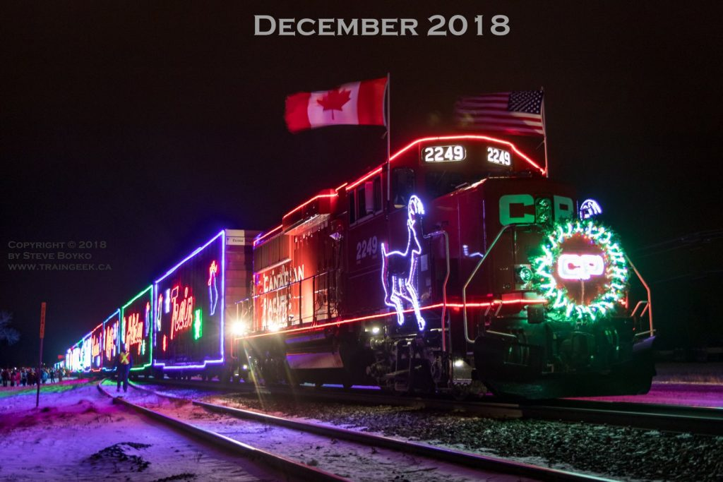 The CP Holiday Train in Whitemouth, Manitoba.