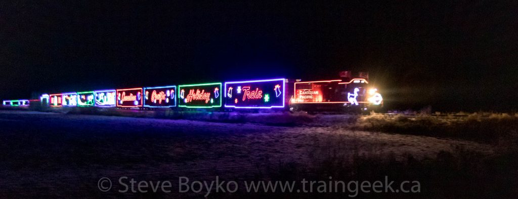 The CP Holiday Train near Whitemouth, MB