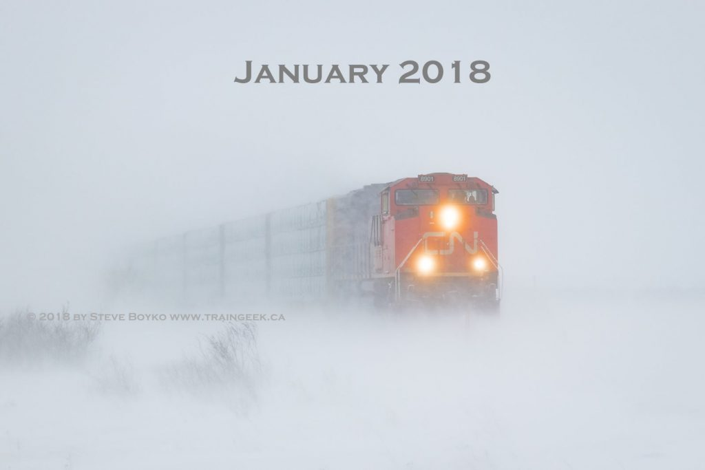 Snowy train on January 14, 2018