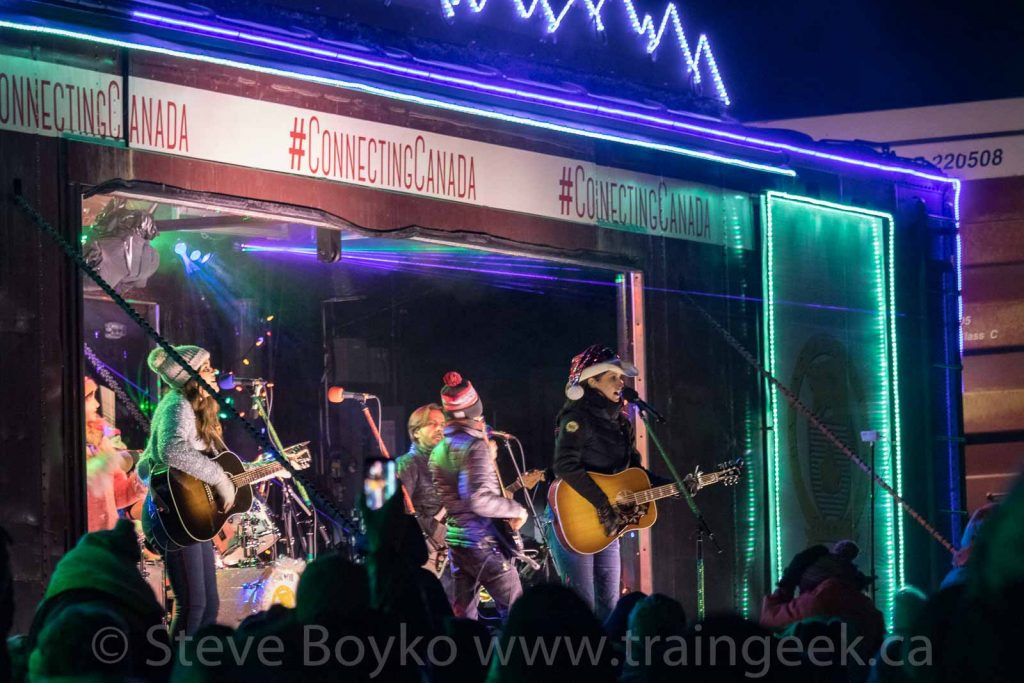 Terri Clark and the CP Holiday Train