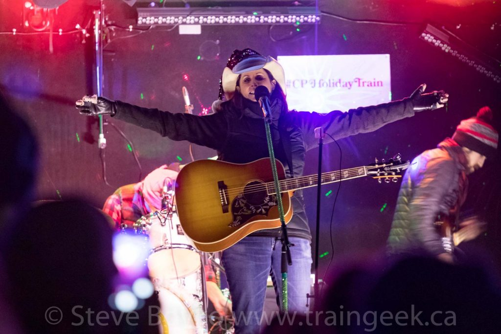 Terri Clark on the Holiday Train