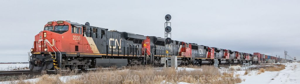 Eight locomotives, one train!