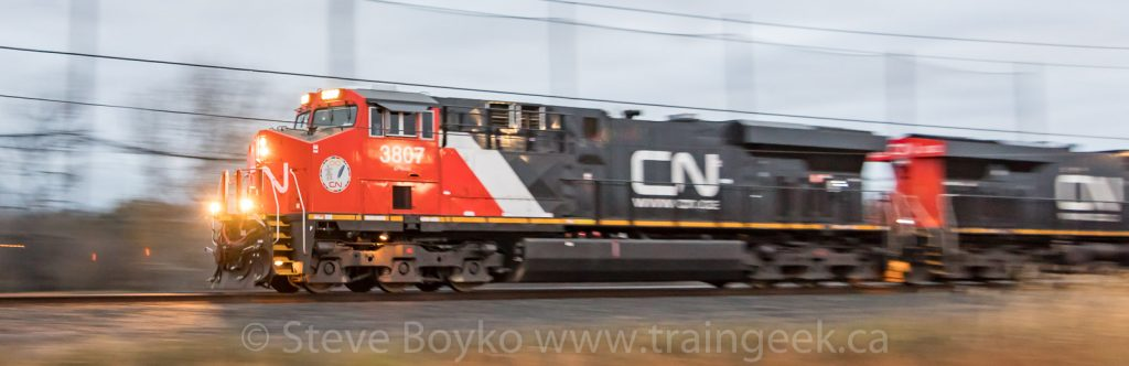 CN 3807, one of CN's 260 new locomotives