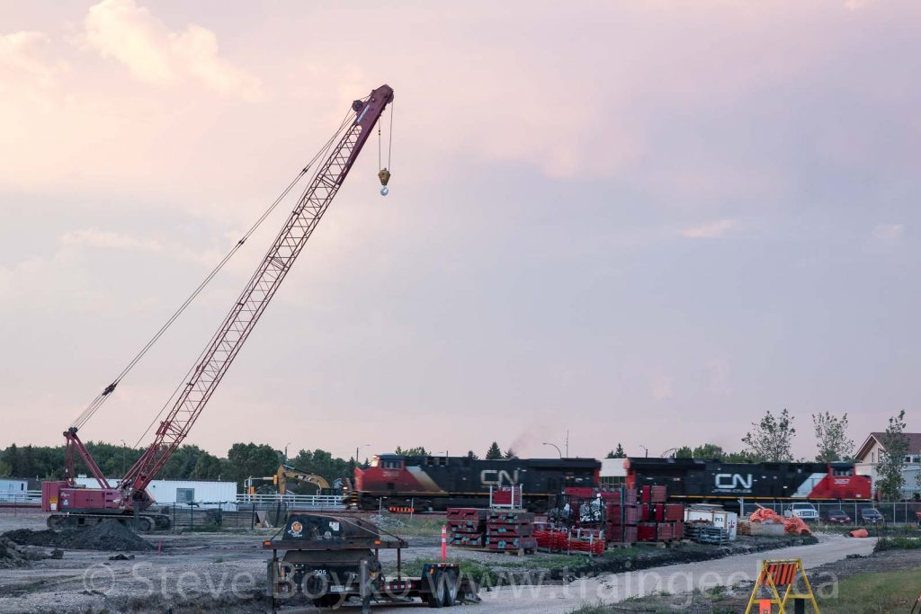 CN passing the construction