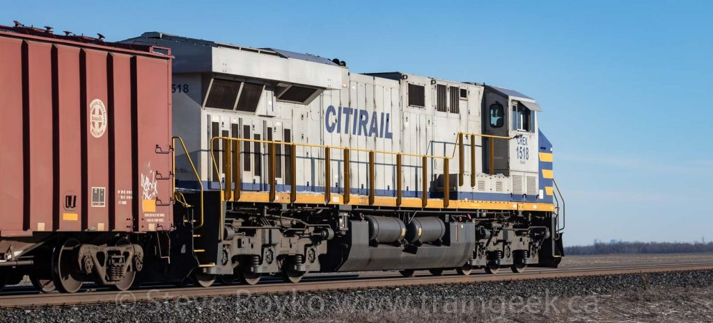 Citirail leased units CREX 1518 on a CN oil train