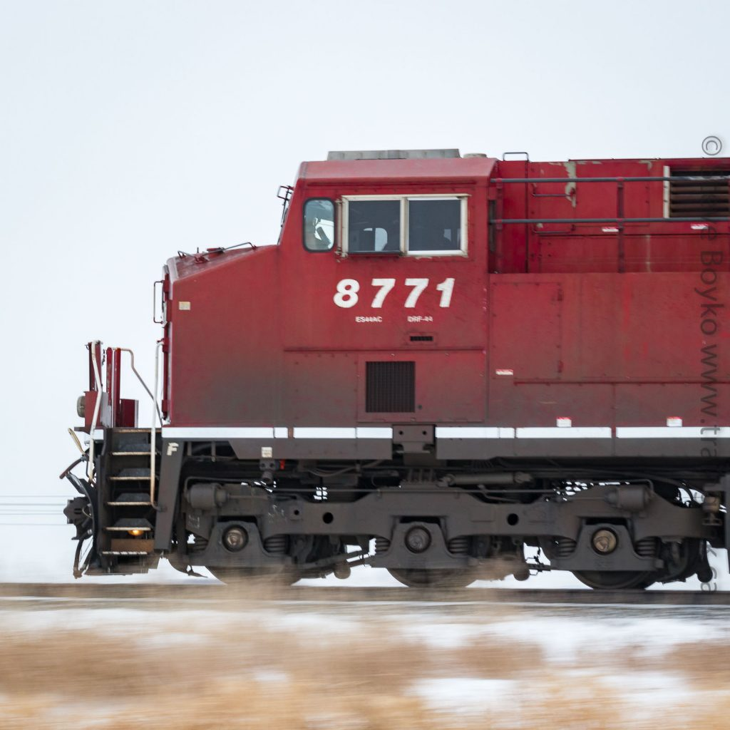 CP 8771 at speed