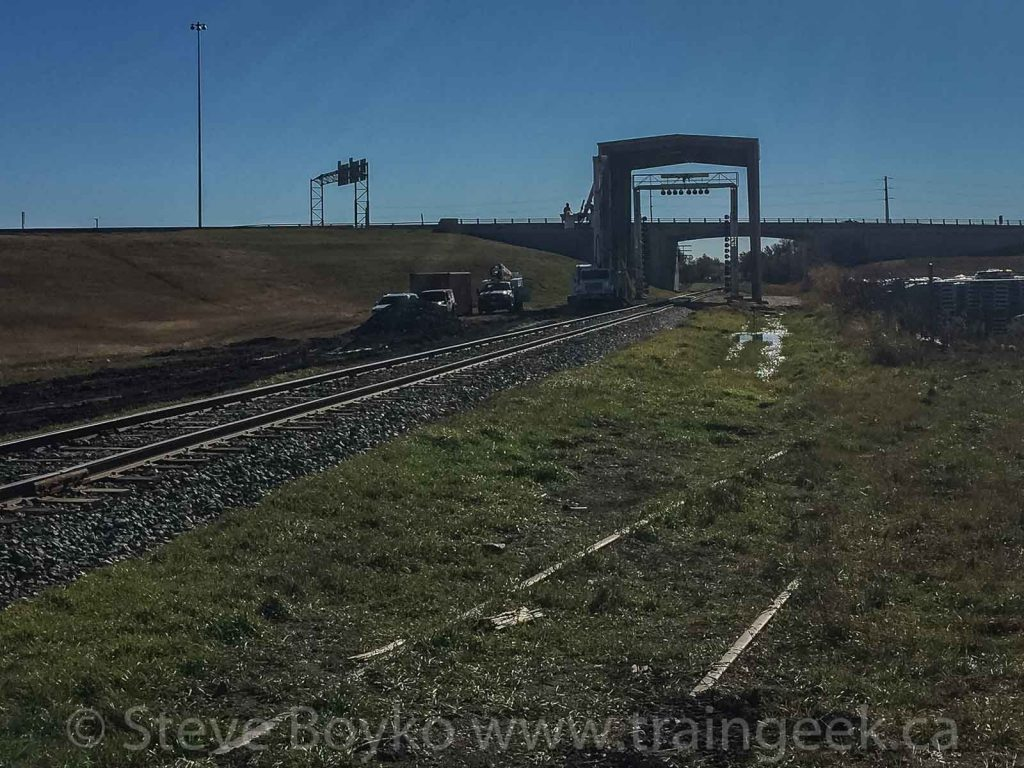October 2018 - note rails in ground