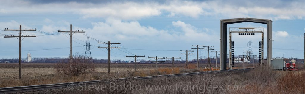 Rail inspection portal between Sainte Anne and Dufresne, MB