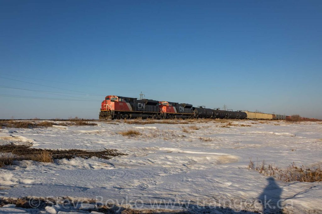 CN 8856 leading the charge in the snow