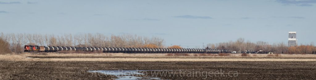 Oil train across the Canadian prairie