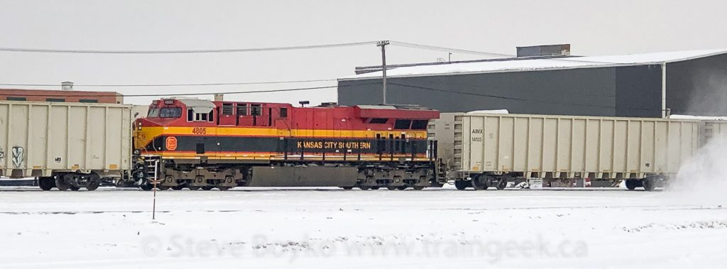 KCS 4805 in the CP yard in Winnipeg