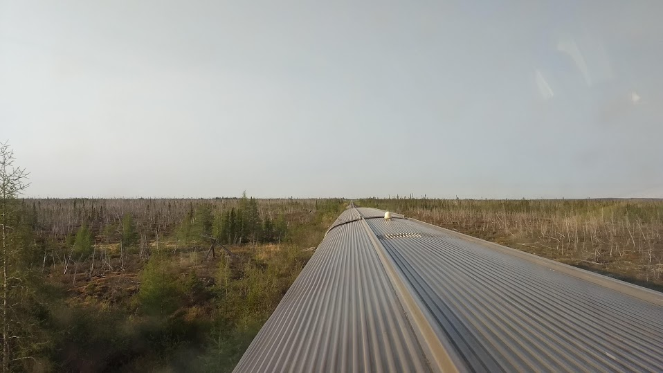 View from the VIA Rail Skyline dome. Photo by Alan Graham.