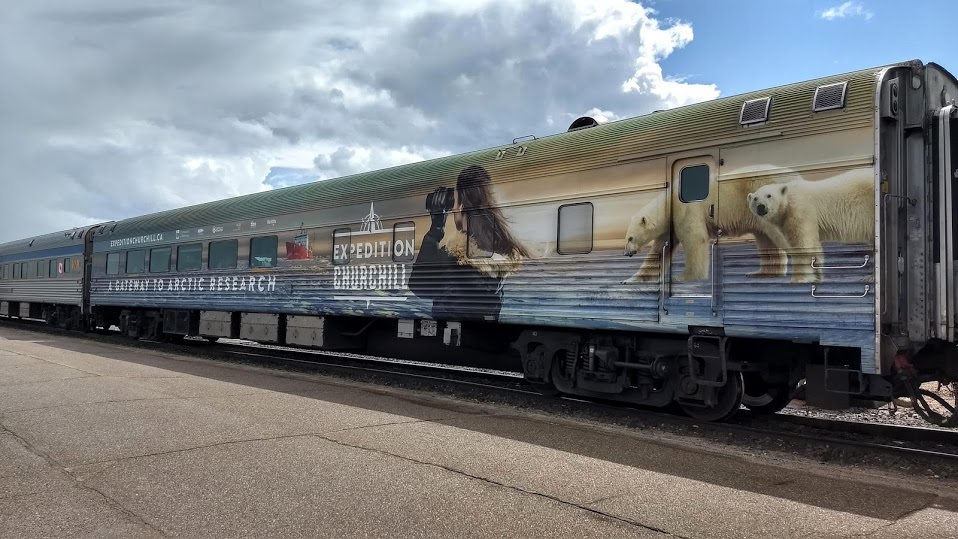 """The Expedition Churchill wrap on """"Emerald"""". Photo by Alan Graham."""