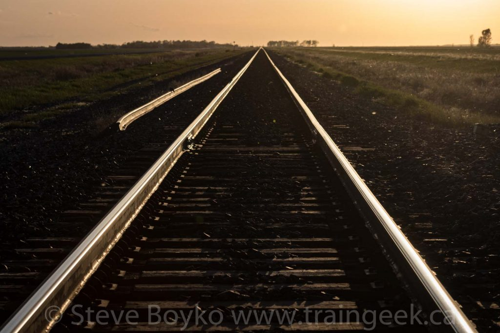 Golden tracks, no trains