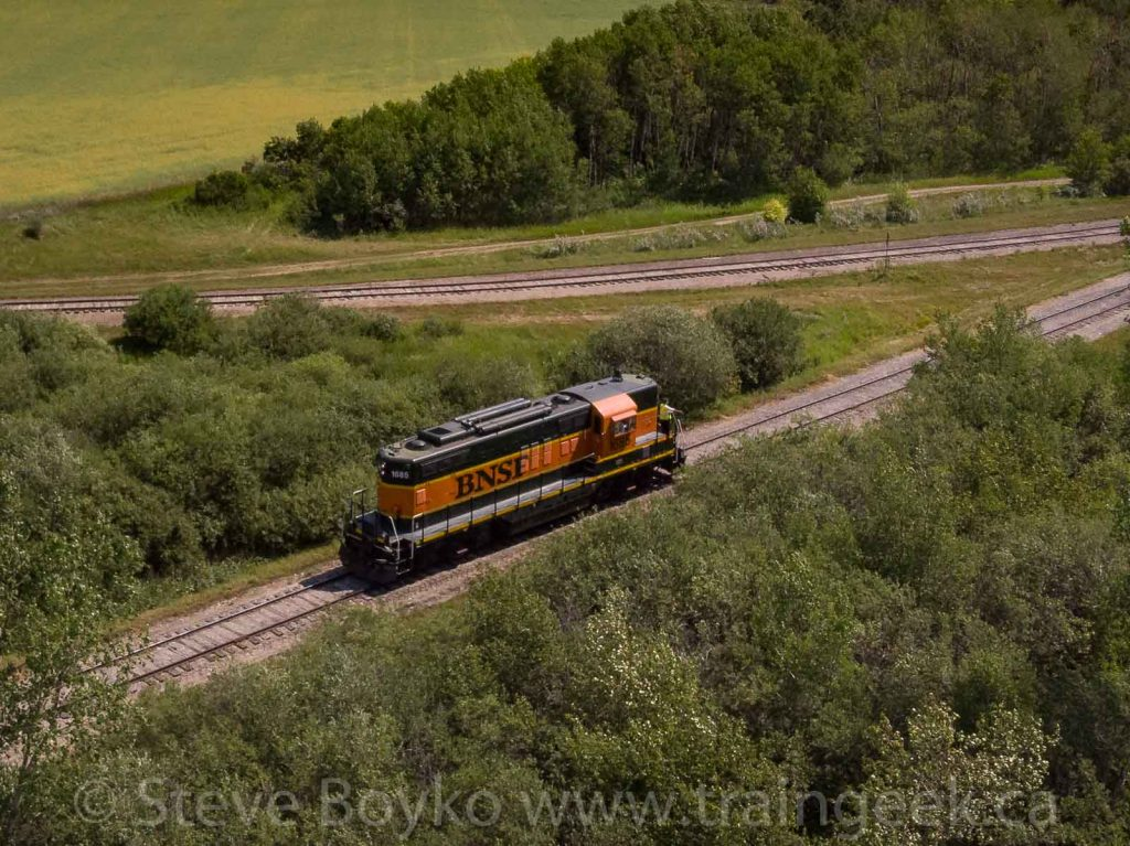 Aerial view of BNSF 1685
