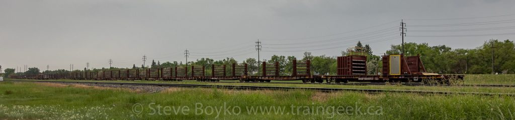 BNSF rail train in Winnipeg