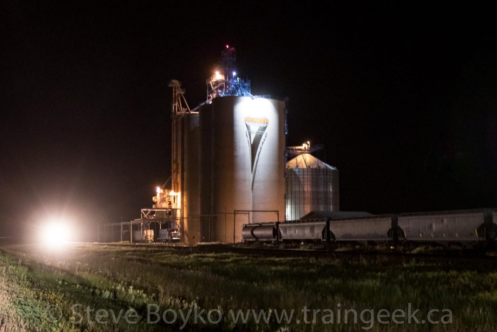 Approaching the grain elevator at Dundonald