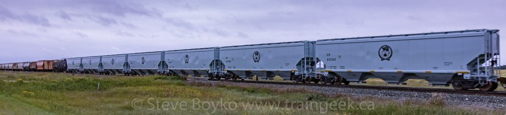 A collection of new CP grain hoppers