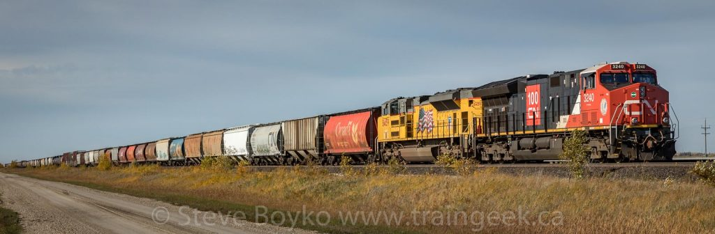 Union Pacific power on a CN train