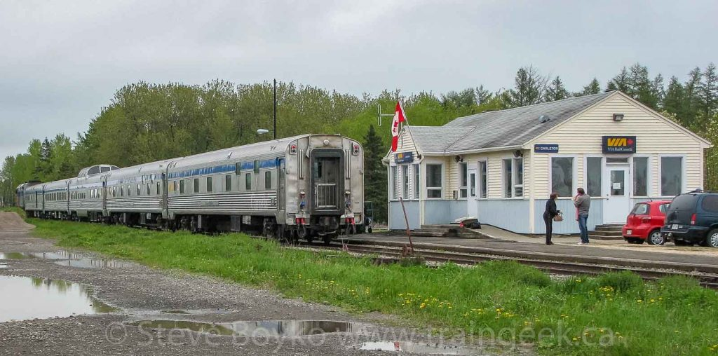 "VIA Rail's ""Chaleur"" train at Carleton, Quebec"