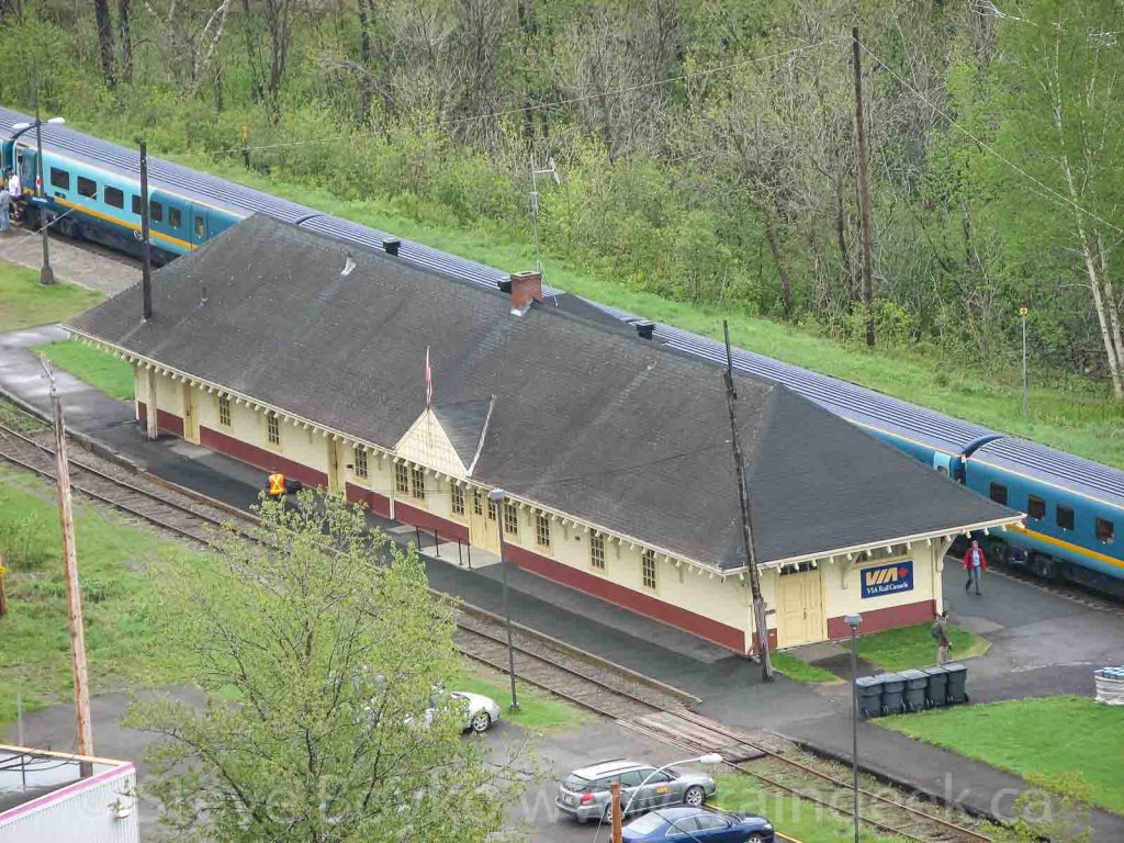 The train station in Matapédia, Quebec