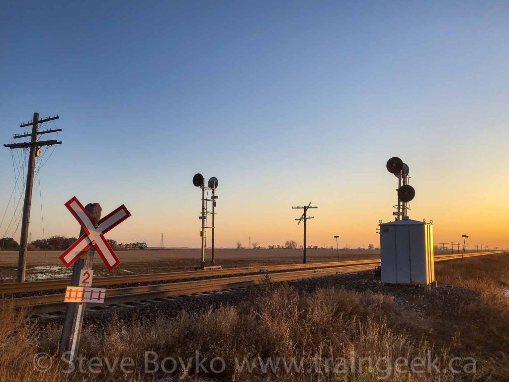Signals near Fortier, Manitoba