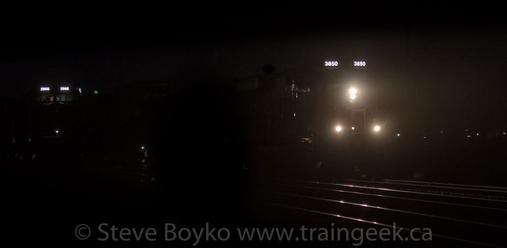 Two trains, passing in the night