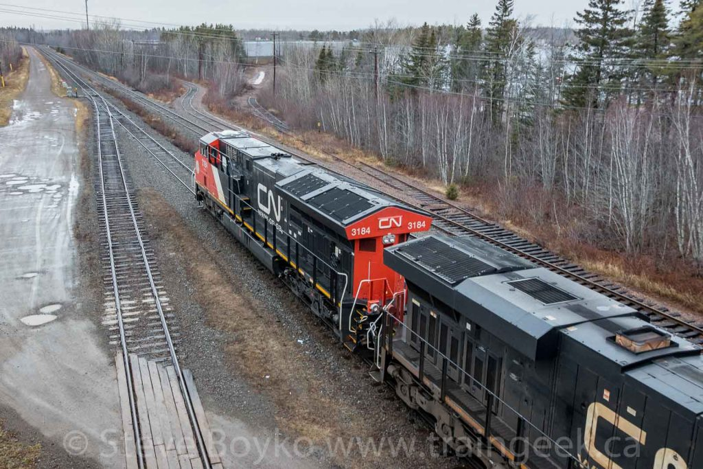 CN 305 readying to head west out of Gordon Yard