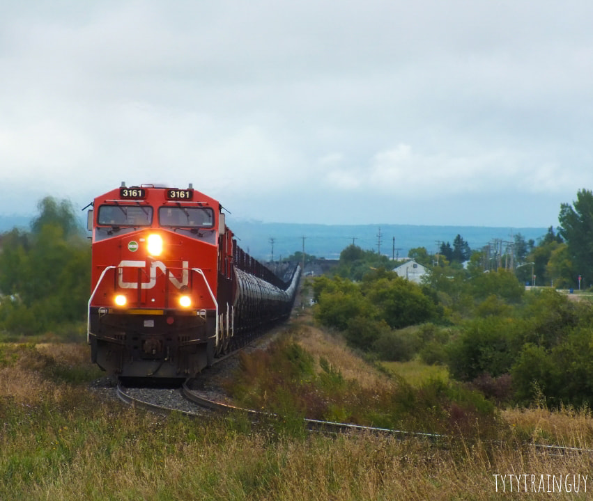 Oil train, mile 31, Grandview MB - photo by Tyler Kowalski