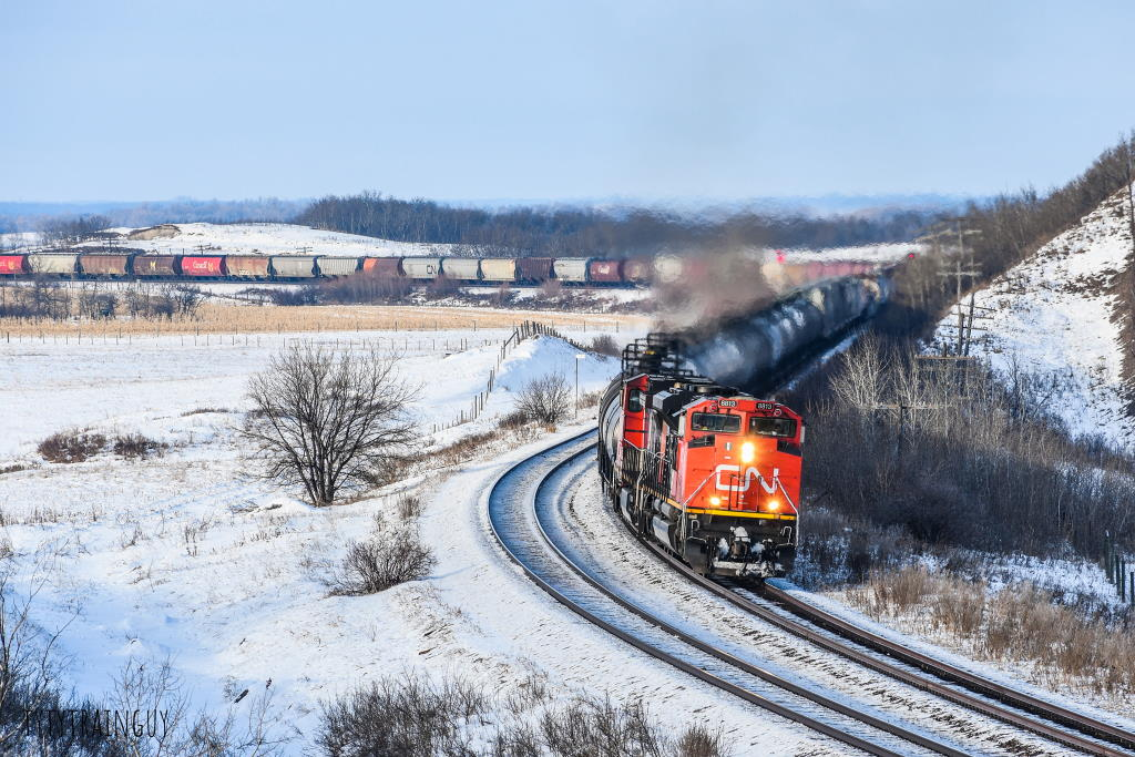 CN train at Quadra, MB - photo by Tyler Kowalski