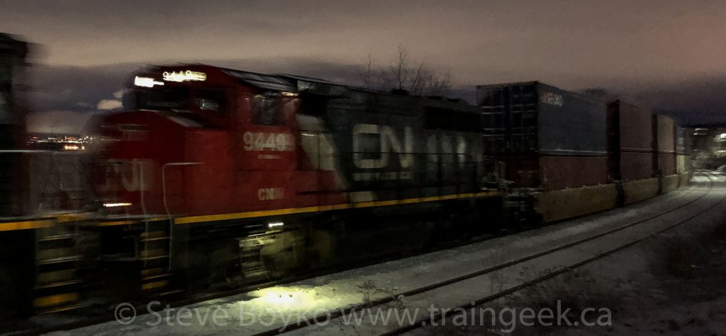 CN 9449 on the move
