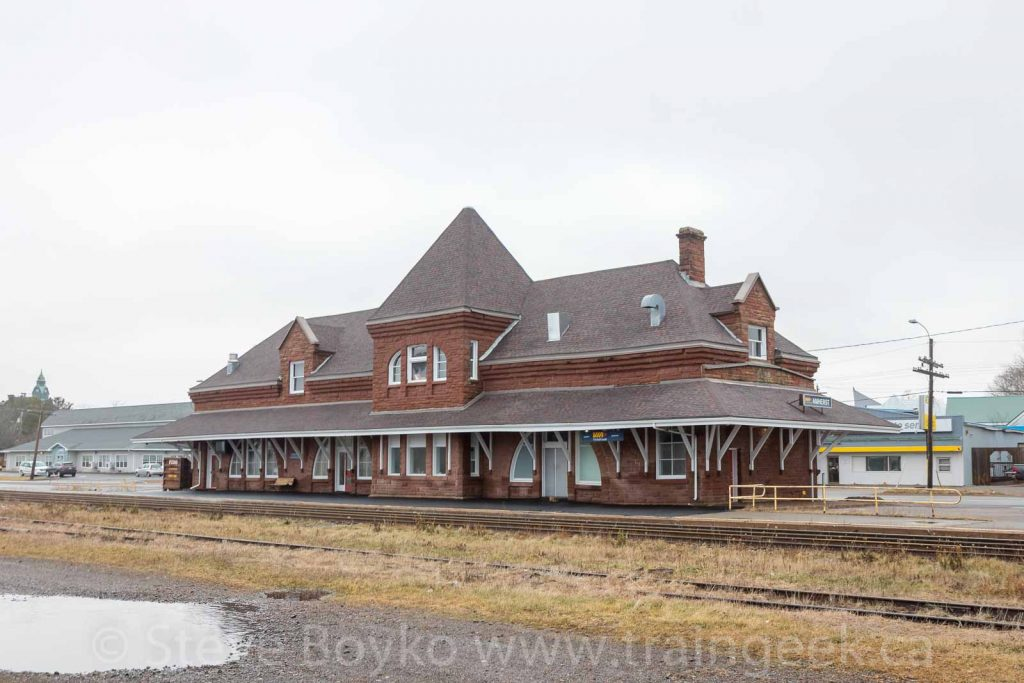 Amherst, NS train station, December 2019