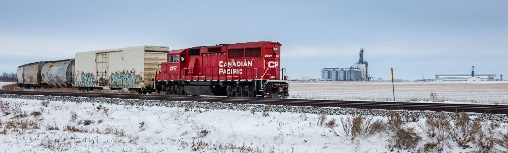 A train and a grain elevator - perfect