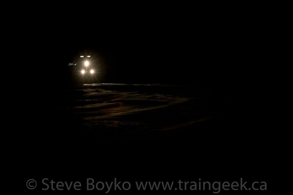 Night train on the plain