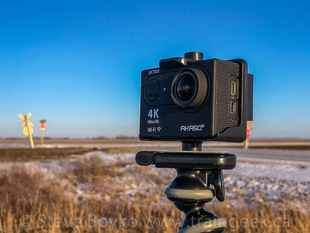 "The Akaso EK7000 4K Ultra HD camera ""in the field"""