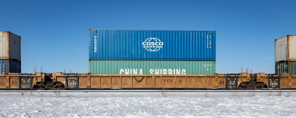 Cosco on China Shipping containers