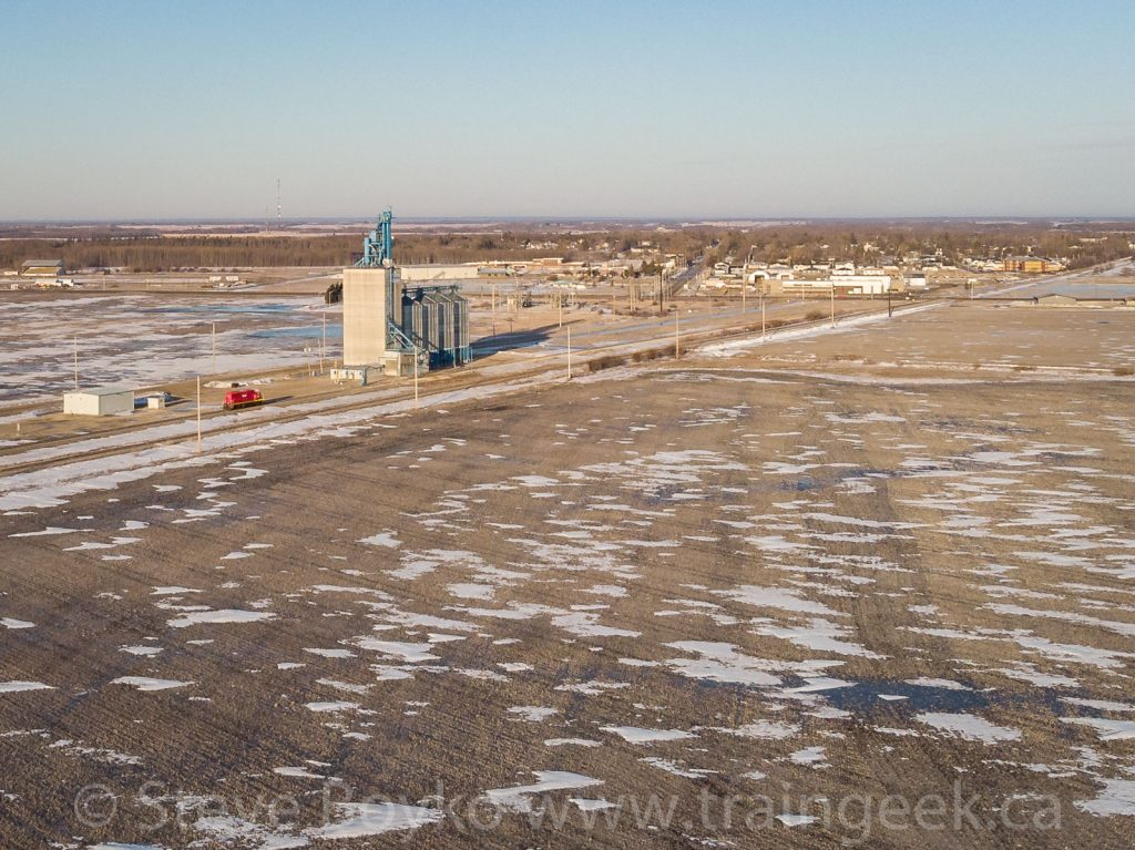 Drone view of the Beasejour, MB grain elevator
