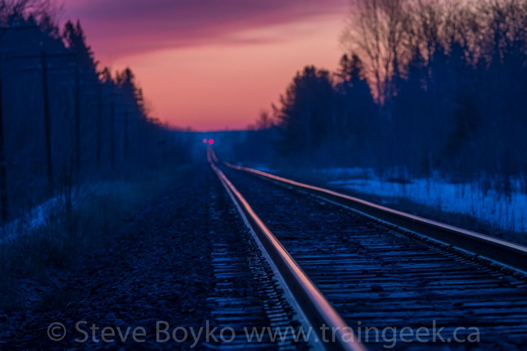 Sunrise track at Vivian, Manitoba