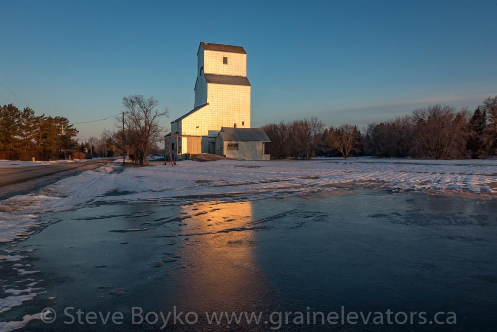 The grain elevator in Tyndall, Manitoba